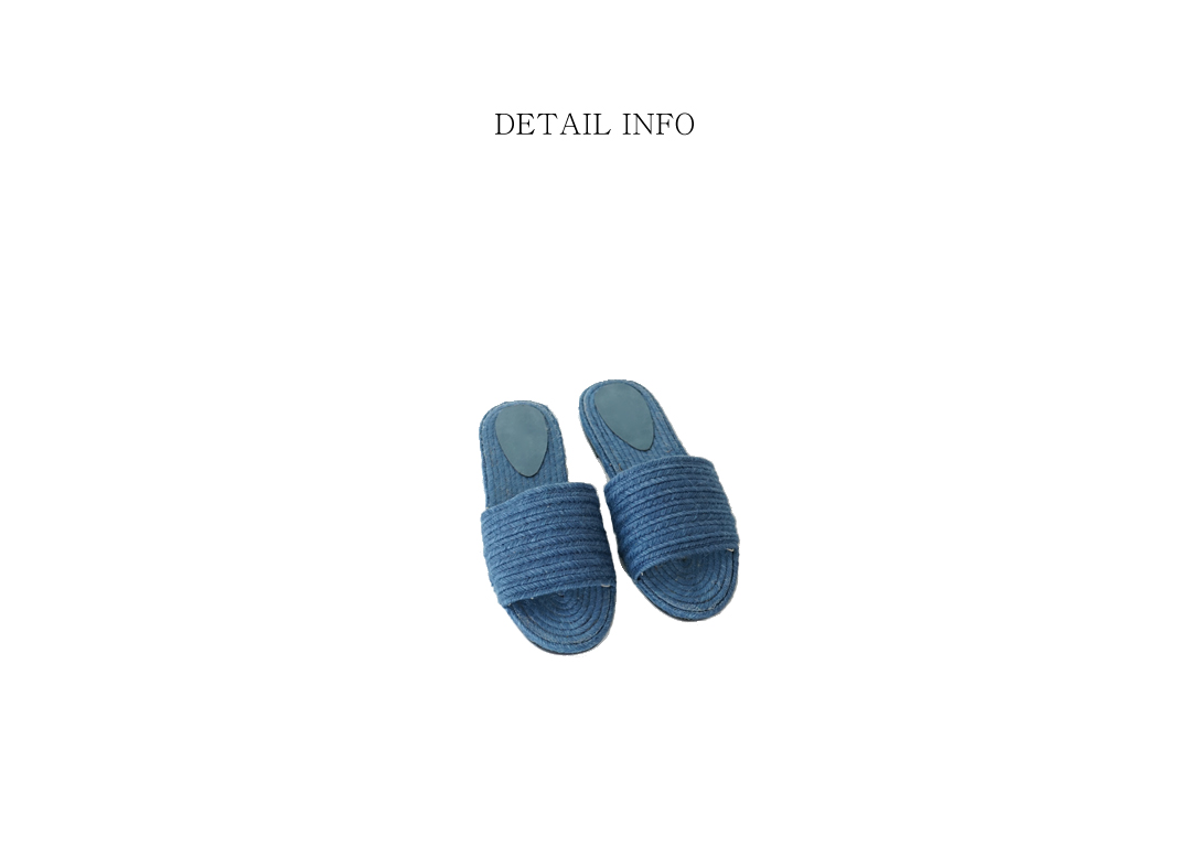 natural ramie slippers (7colors)