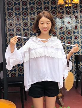 Cancan lace string blouse_K (size : free)