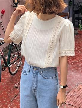 Hazel lace round blouse_S (size : free)