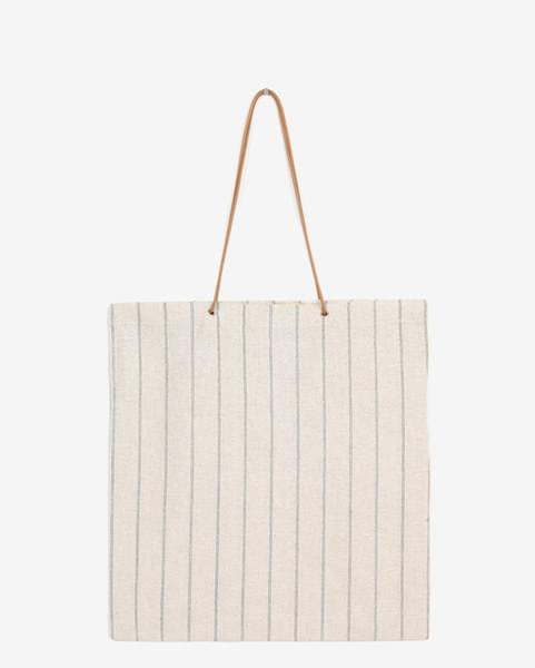 linen stripe eco bag