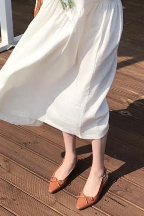 Diva Ribbon Slingback Flat-Beige 240