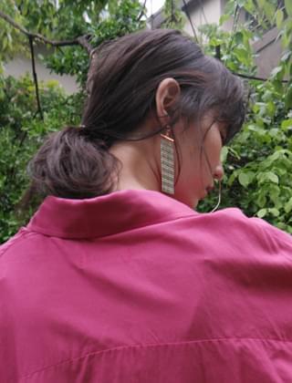 tassel curtain earrings