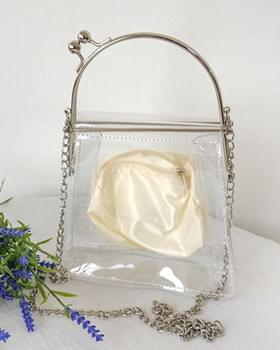 PVC transparent chain mini bag