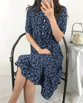 China Carapril Flower Chiffon Long Dress