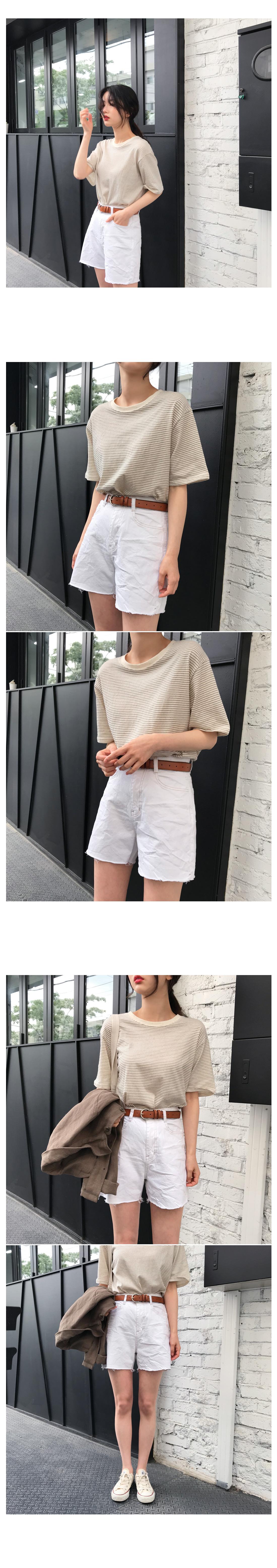 Vita Stripe short-sleeved polo shirt - Olive green ships same day