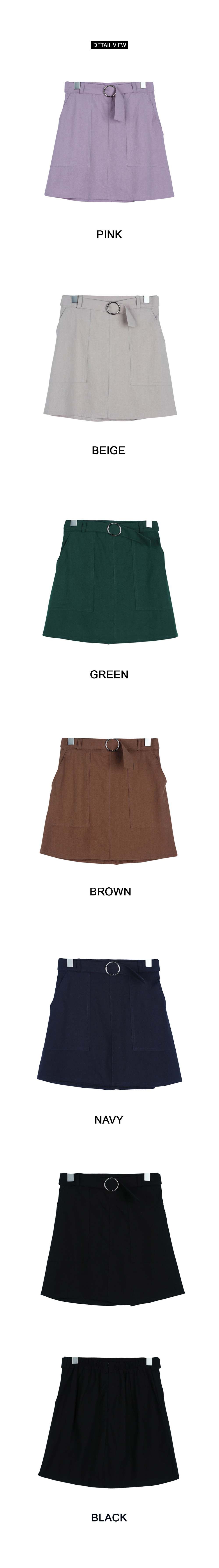 Two-pocket belt skirt