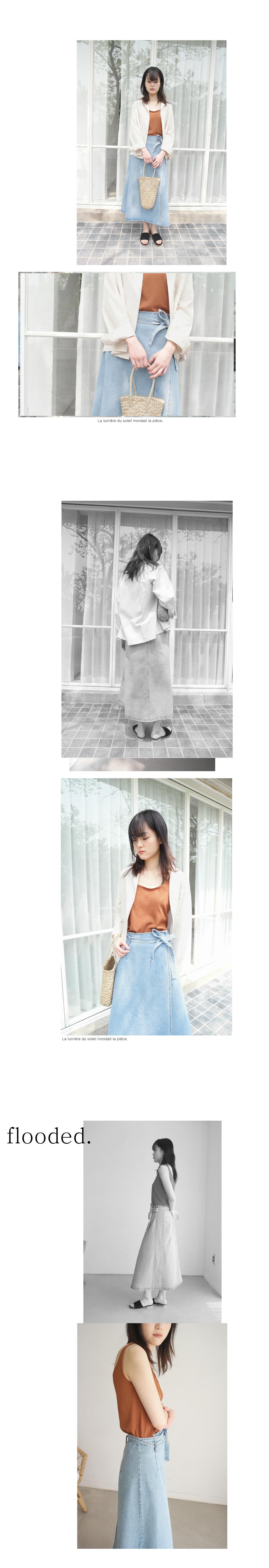 denim full wrap skirt