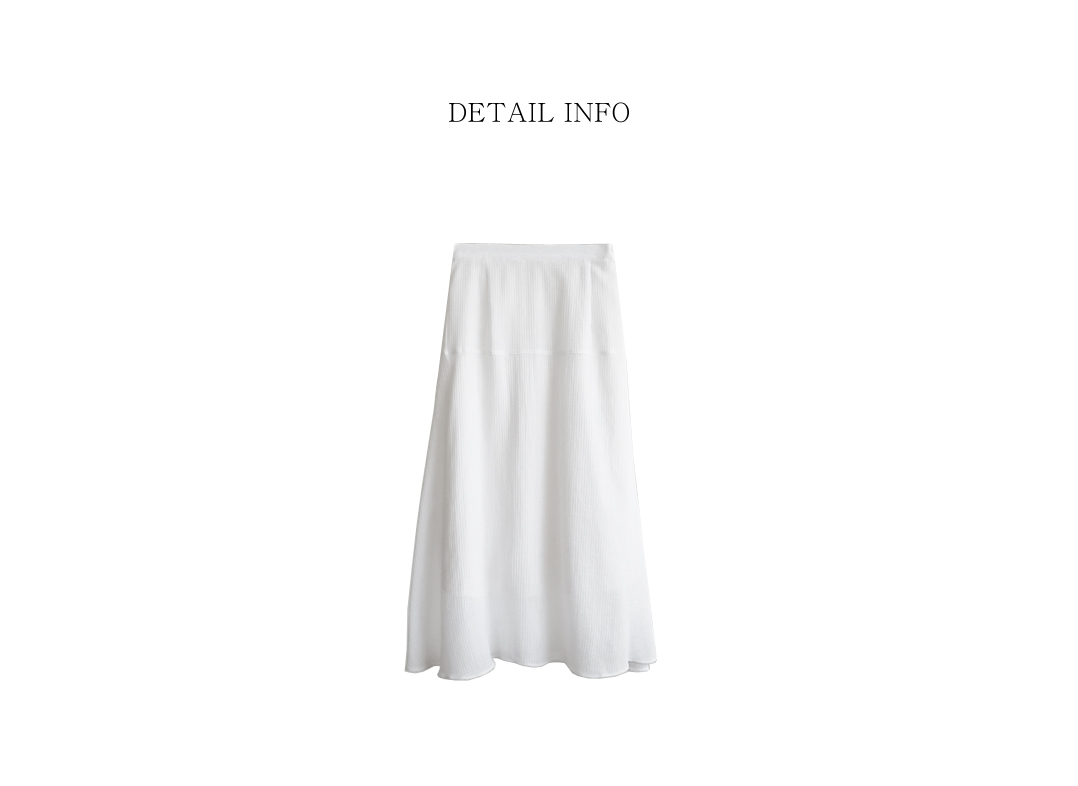 gauze texture flare skirt (2colors)