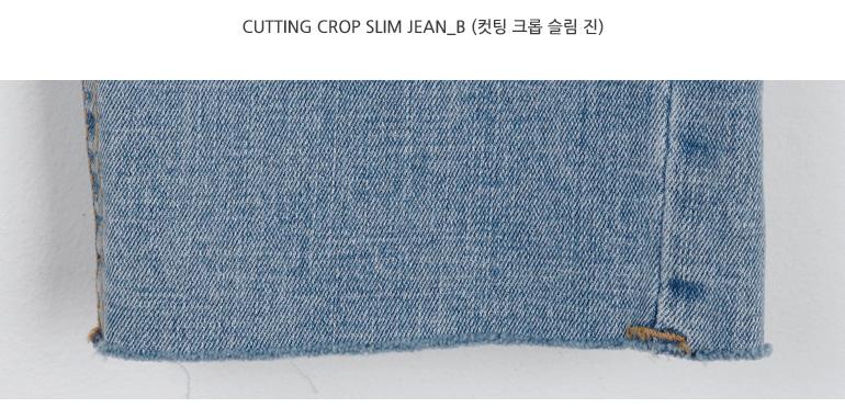 Cutting crop slim jean_B (size : S,M,L)