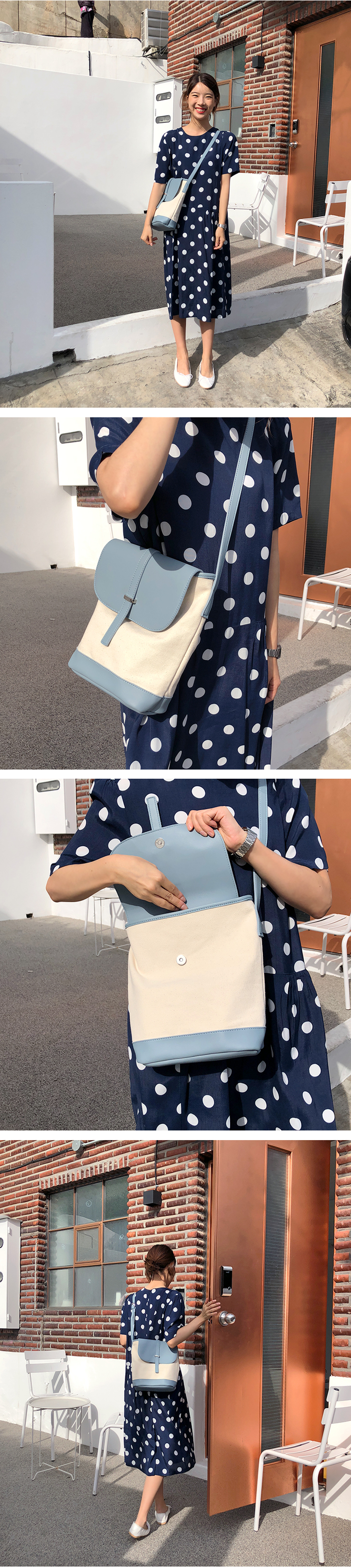 Organic canvas cross bag_S (size : one)