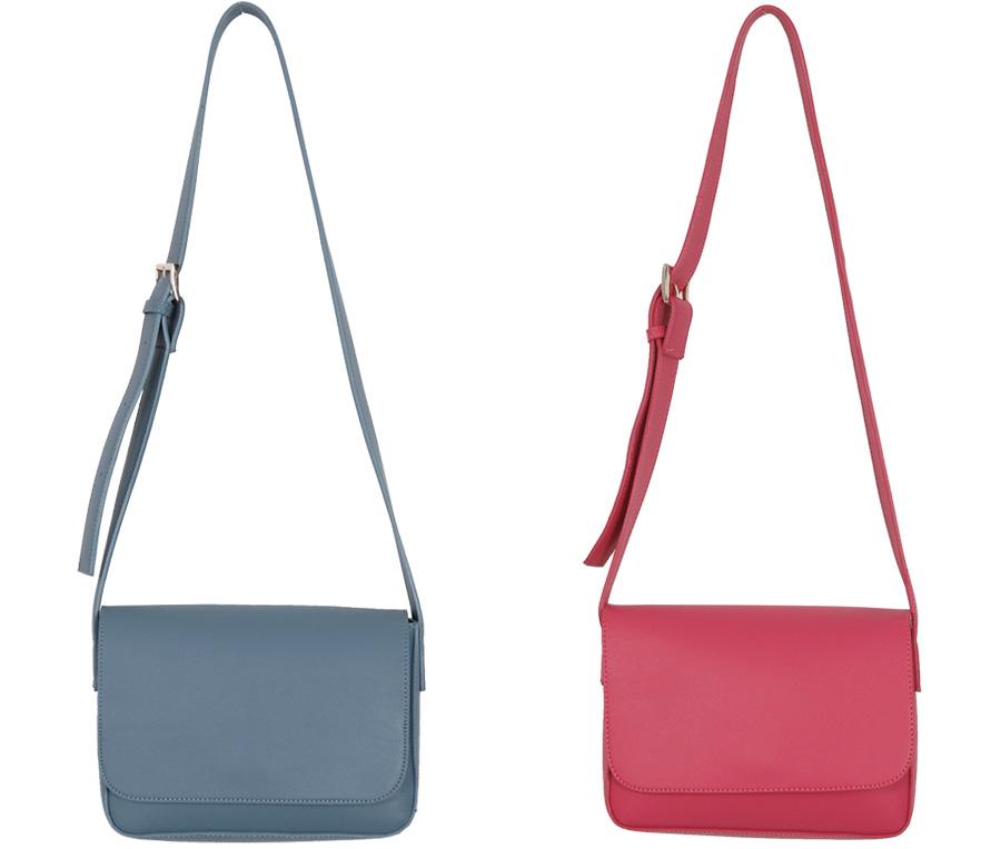 Color frame buckle bag_H (size : one)
