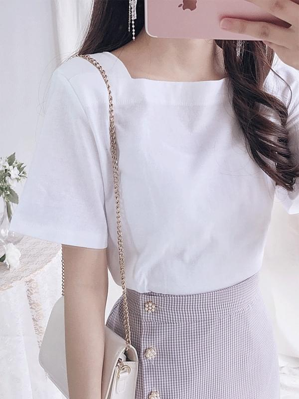 Square square short-sleeved tee