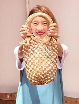 Hole mini tote bag_B (size : one)
