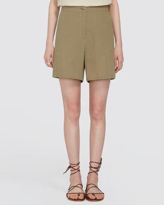 bloom linen half pants (s, m)