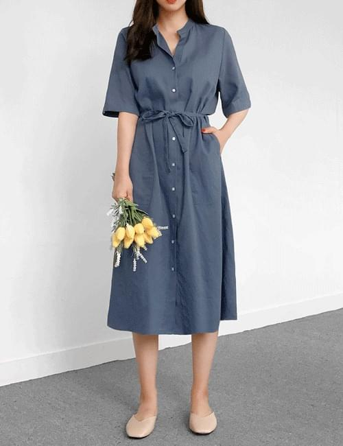 Laurent Linen Long Dress