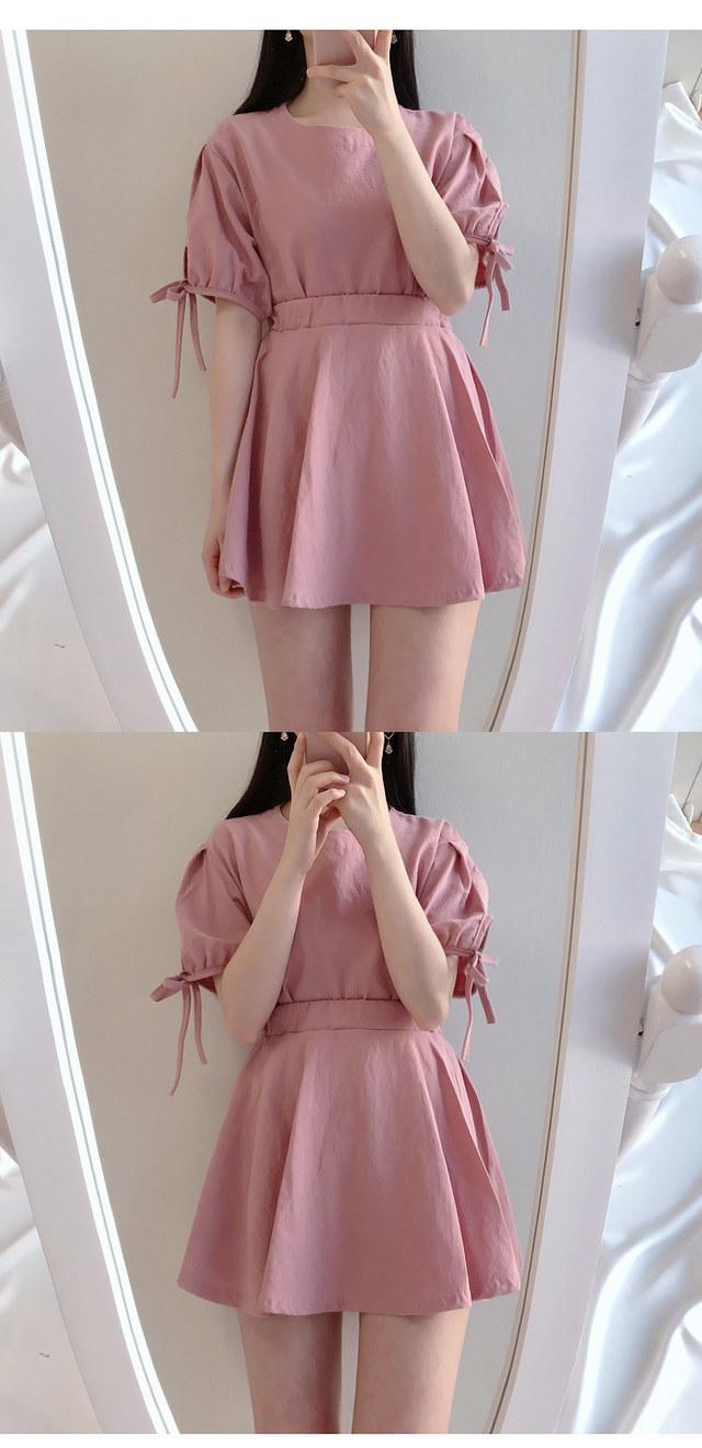 ♥ Moko ribbon bl + mini sk set