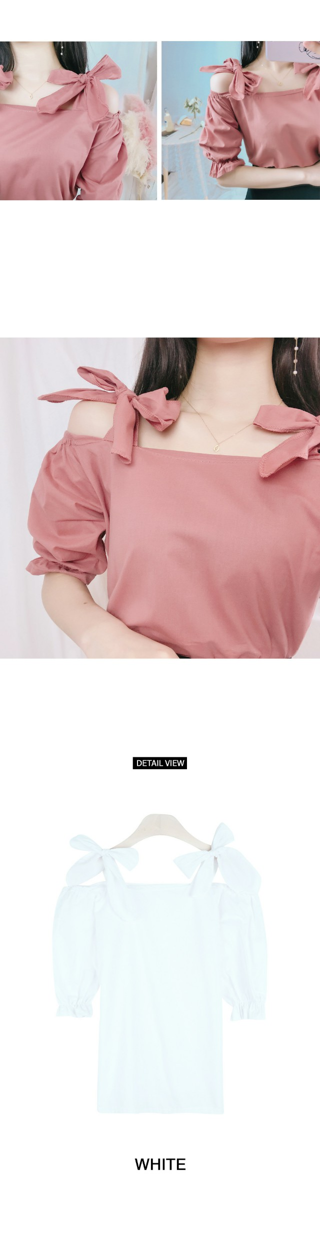 Ribbon Summer Blouse (bl510)