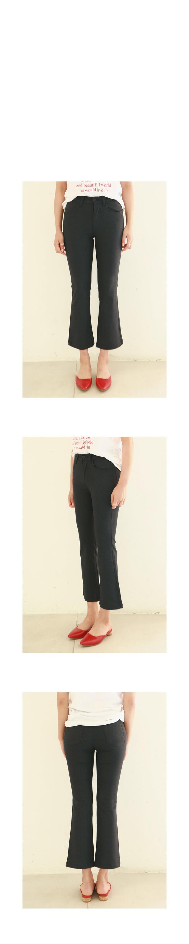 Summer linen boots cut pants