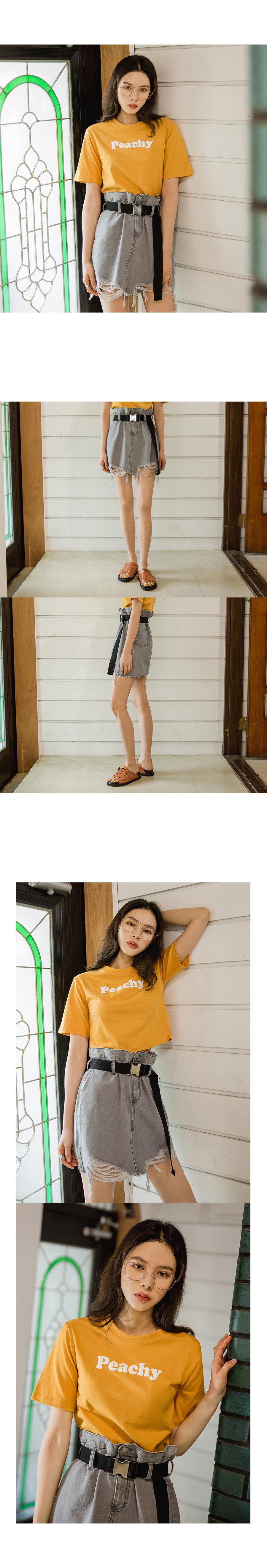 Vintage denim skirt (belt set)