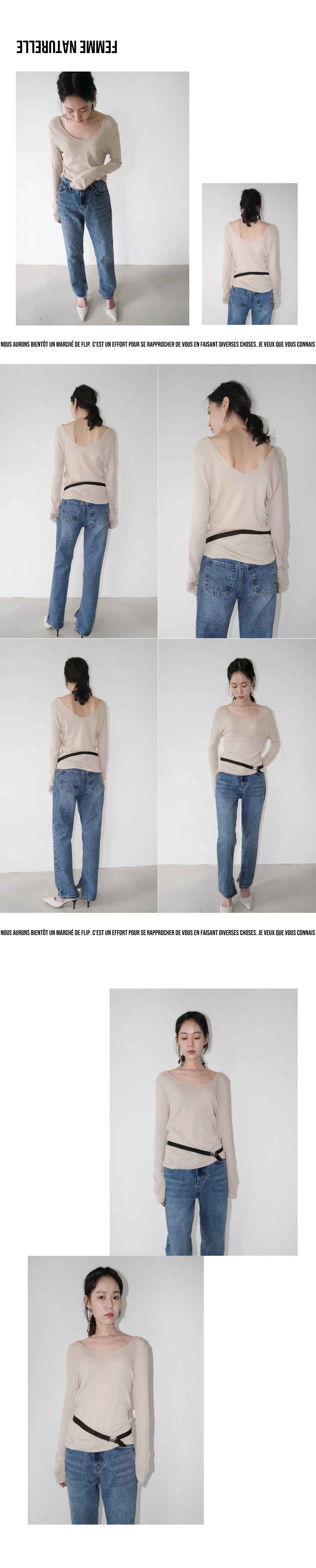 wearable string belt (3colors)