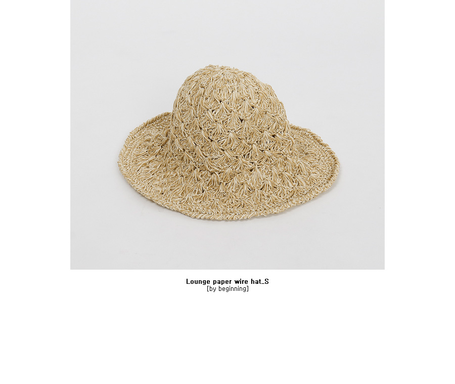 Lounge paper wire hat_S (size : one)