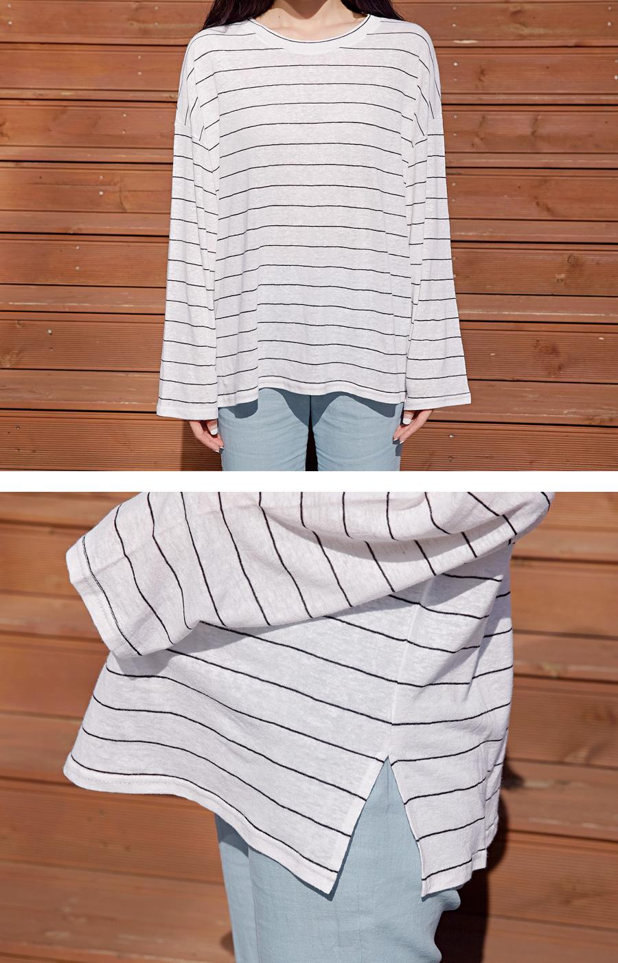 Ocean linen stripe T_M (size : free)