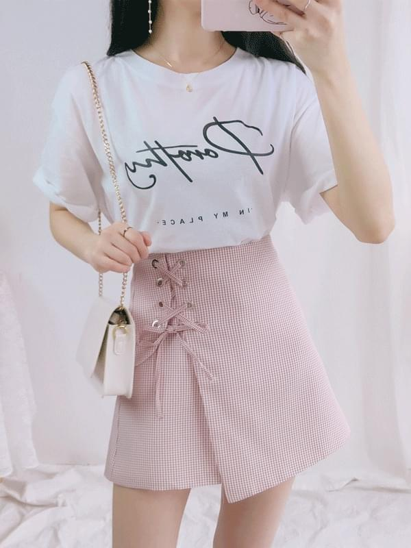 Punching ribbon culottes skirt (sk1185)
