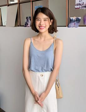 Post linen soft sleeveless_K (size : free)