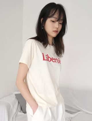 french lettering tee (3colors)