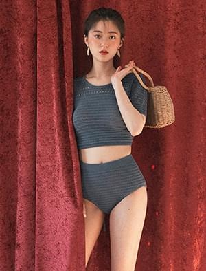back point knit bikini