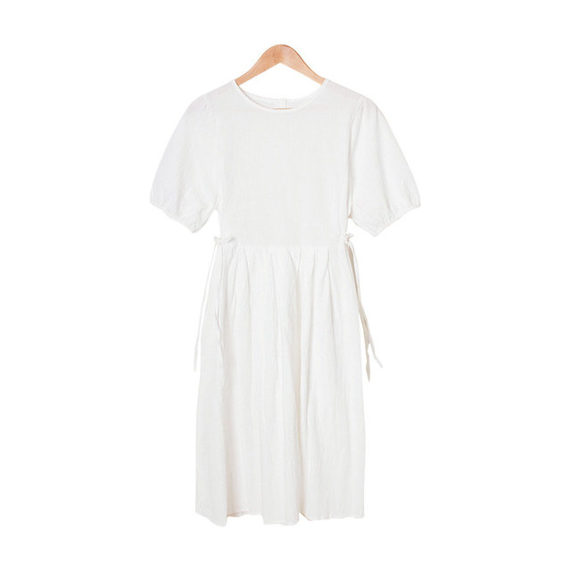 Julien ribbon puff sleeve long dress