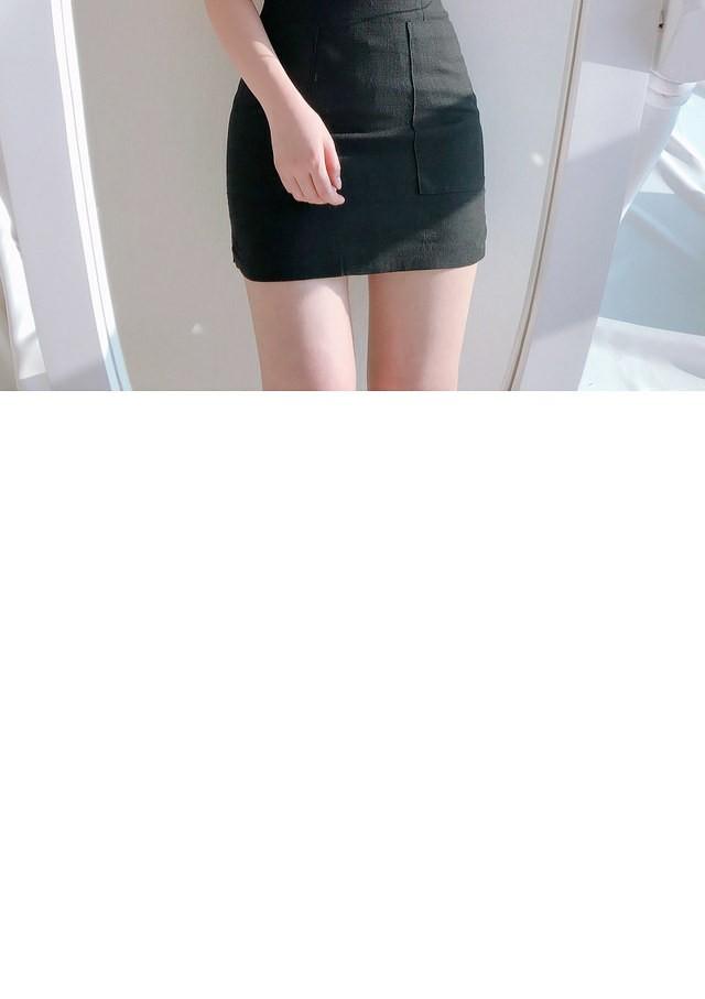 10% off the name ♥ Pocket mini skirt sk (pink, black)