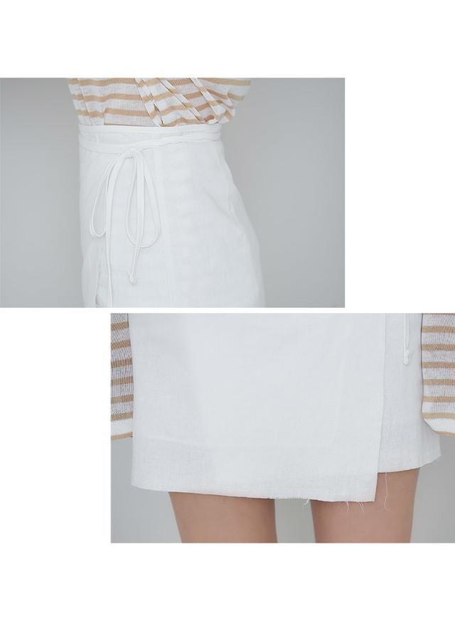 Lappa linen wrap skirt