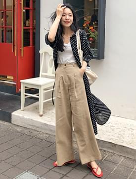 Nostalgia linen wide pants_S (size : S,M)