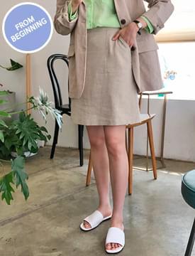 Made_bottom-150_linen twill skirt_B (size : S,M)