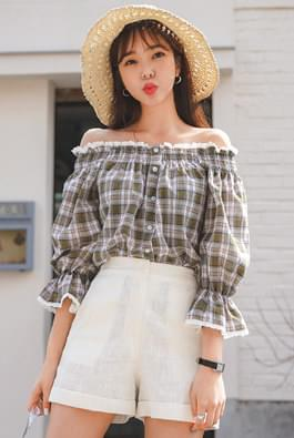 Melting check blouse