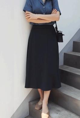 Linen flared skirt (2 colors)