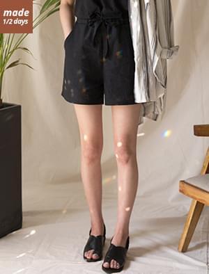 Daily simple linen short pants