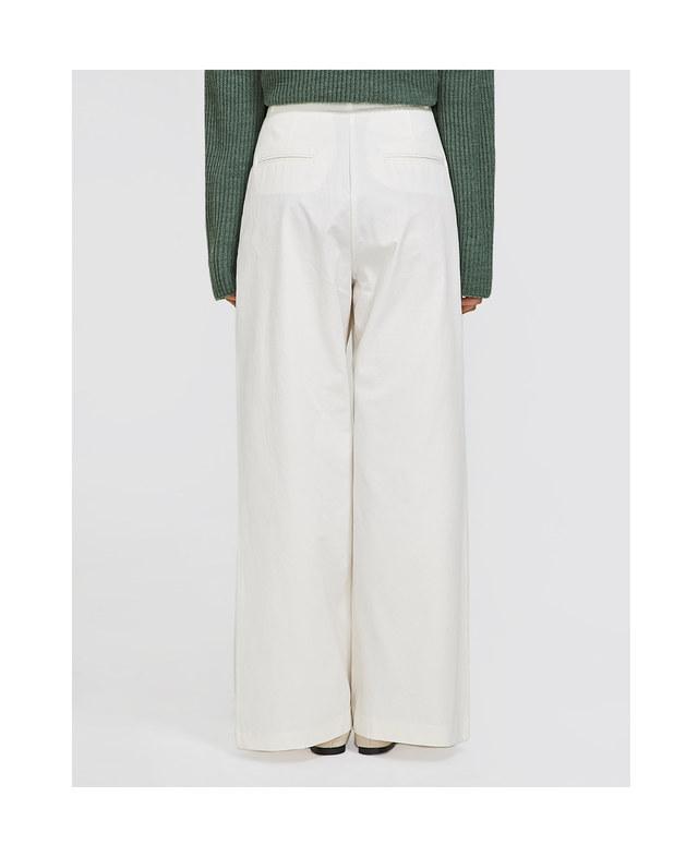 real wide cotton slacks (s, m)