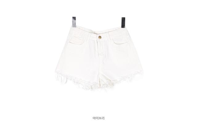Denim P shorts bright