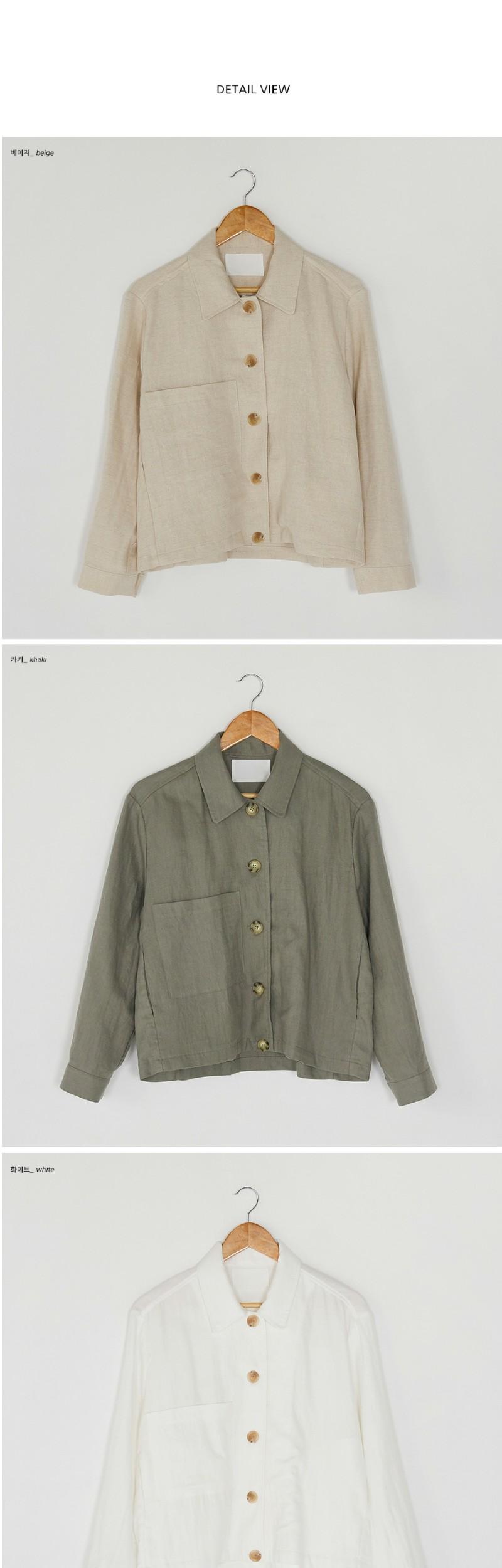 one pocket linen jacket