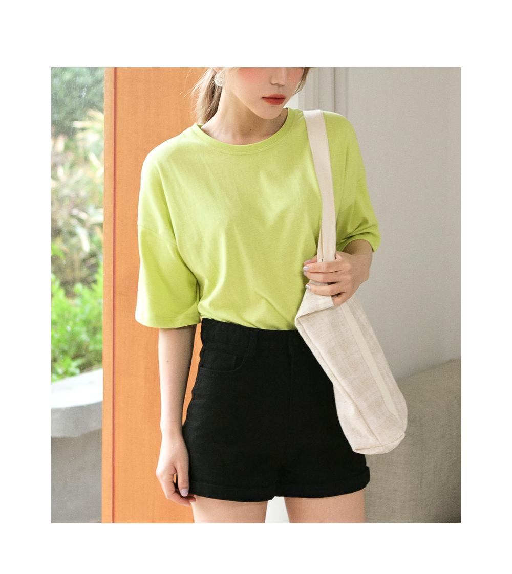 Vivid color short sleeve tee 9color