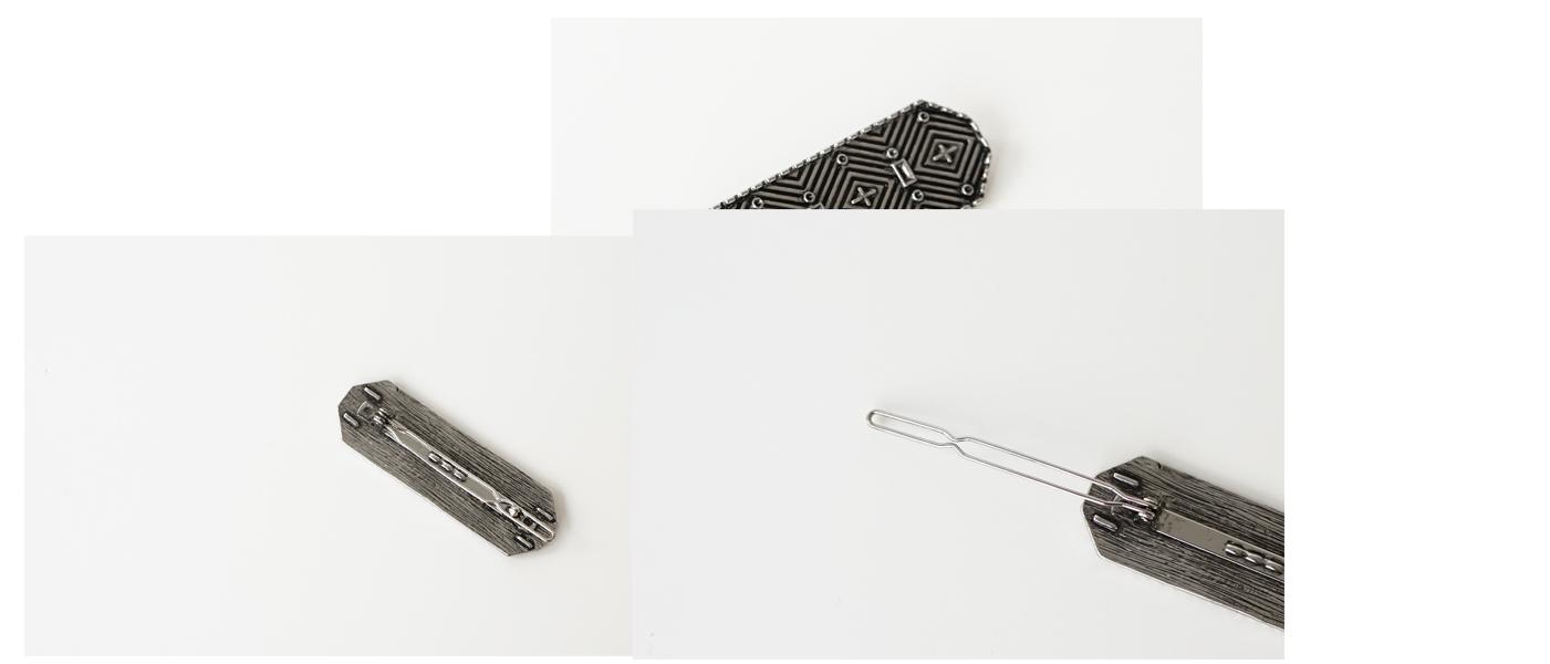 antique geometric hairpin