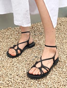 Twist loop strap sandal_M (size : 225,230,235,240,245,250)