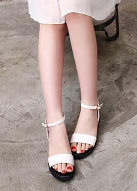 Summer strap sandals Mary Jane Flat
