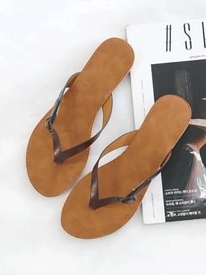 Laden slippers 1cm