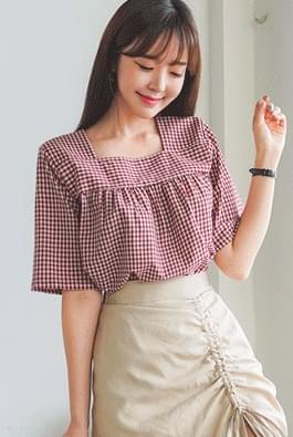 Scone check blouse