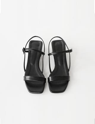 maryjane simple sandal low-heels (2colors)