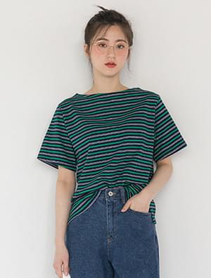 natural fit cotton stripe tee