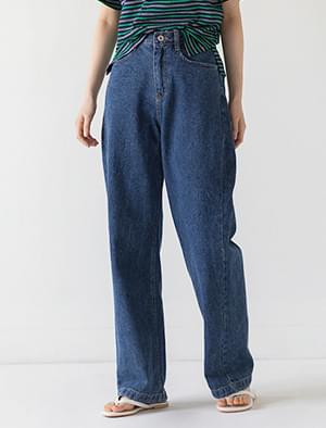 loose fit straight denim pants
